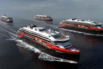 4 Hurtigruten Newbuilds developed by Rolls Royce and designed by  Espen Øino