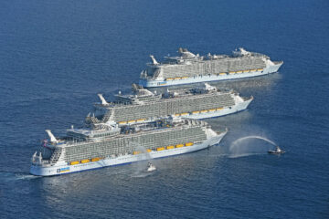 Oasis Class Rendezvous. Oasis of the Seas, Allure of the Seas, Harmony of the Seas.