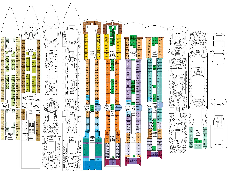 Celebrity constellation deck plans cruiseind for Deck blueprints online