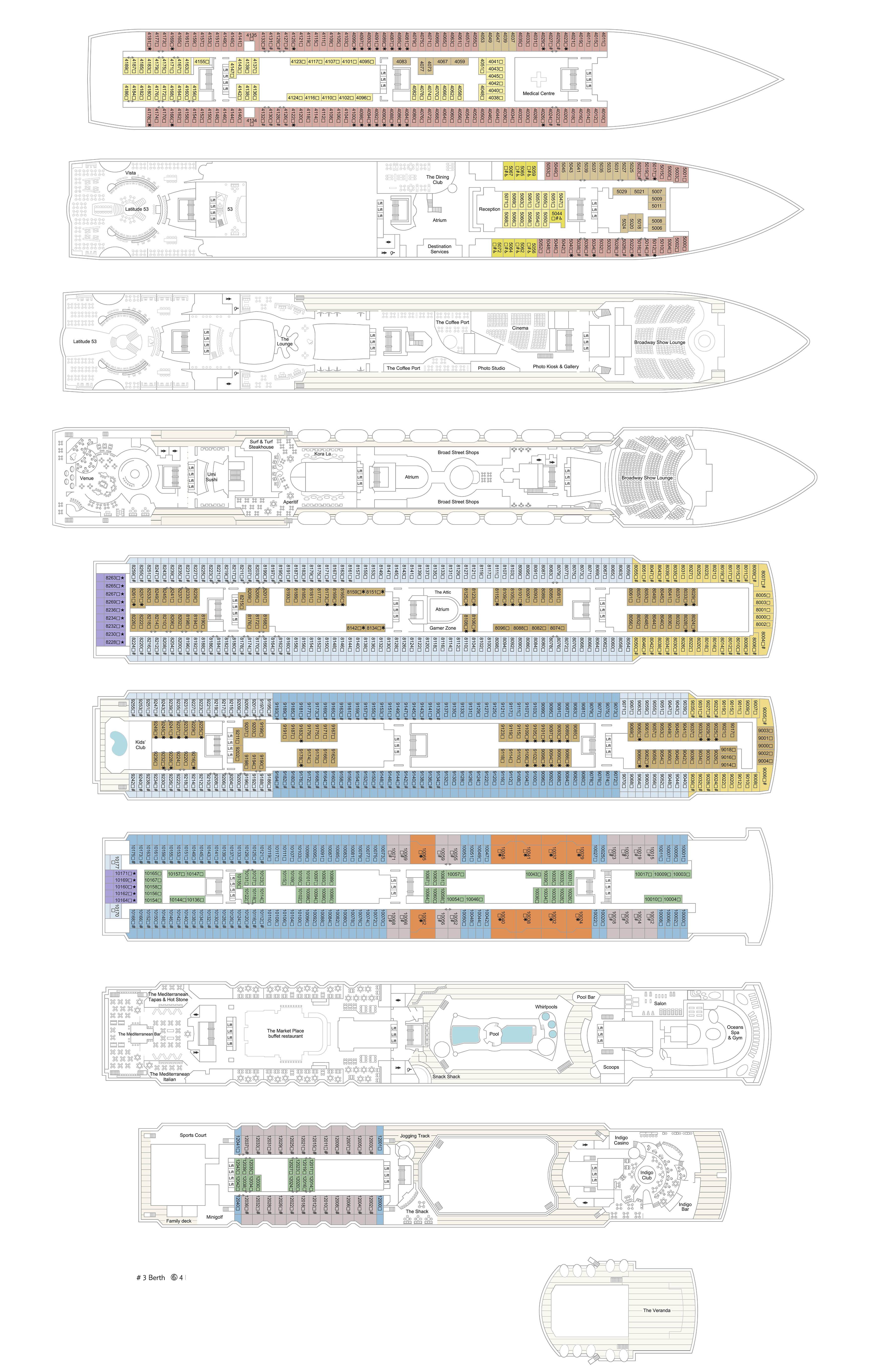 Marella Explorer Deck Plans Cruiseind