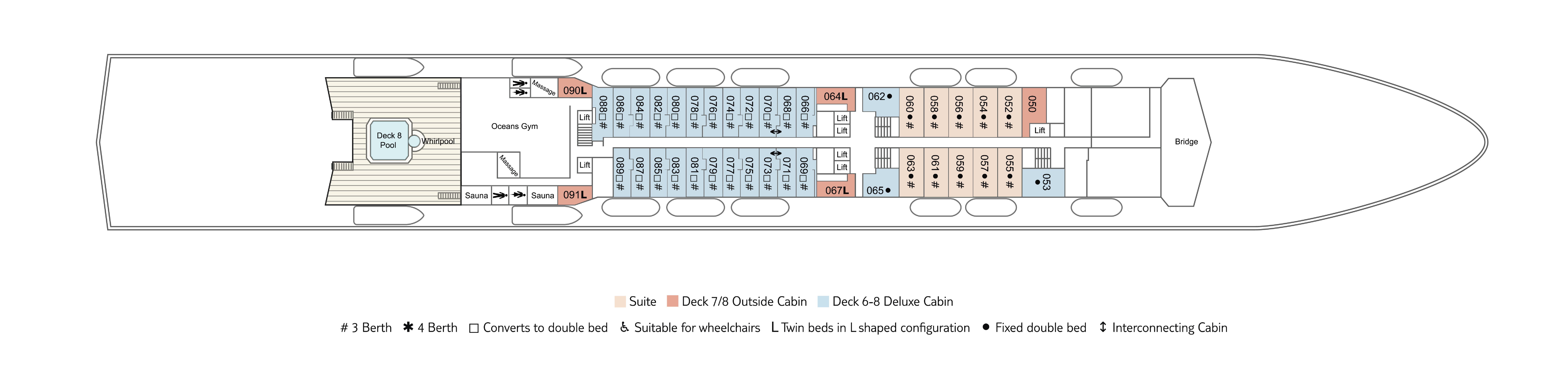 Marella spirit deck plans cruiseind for Deck plans online