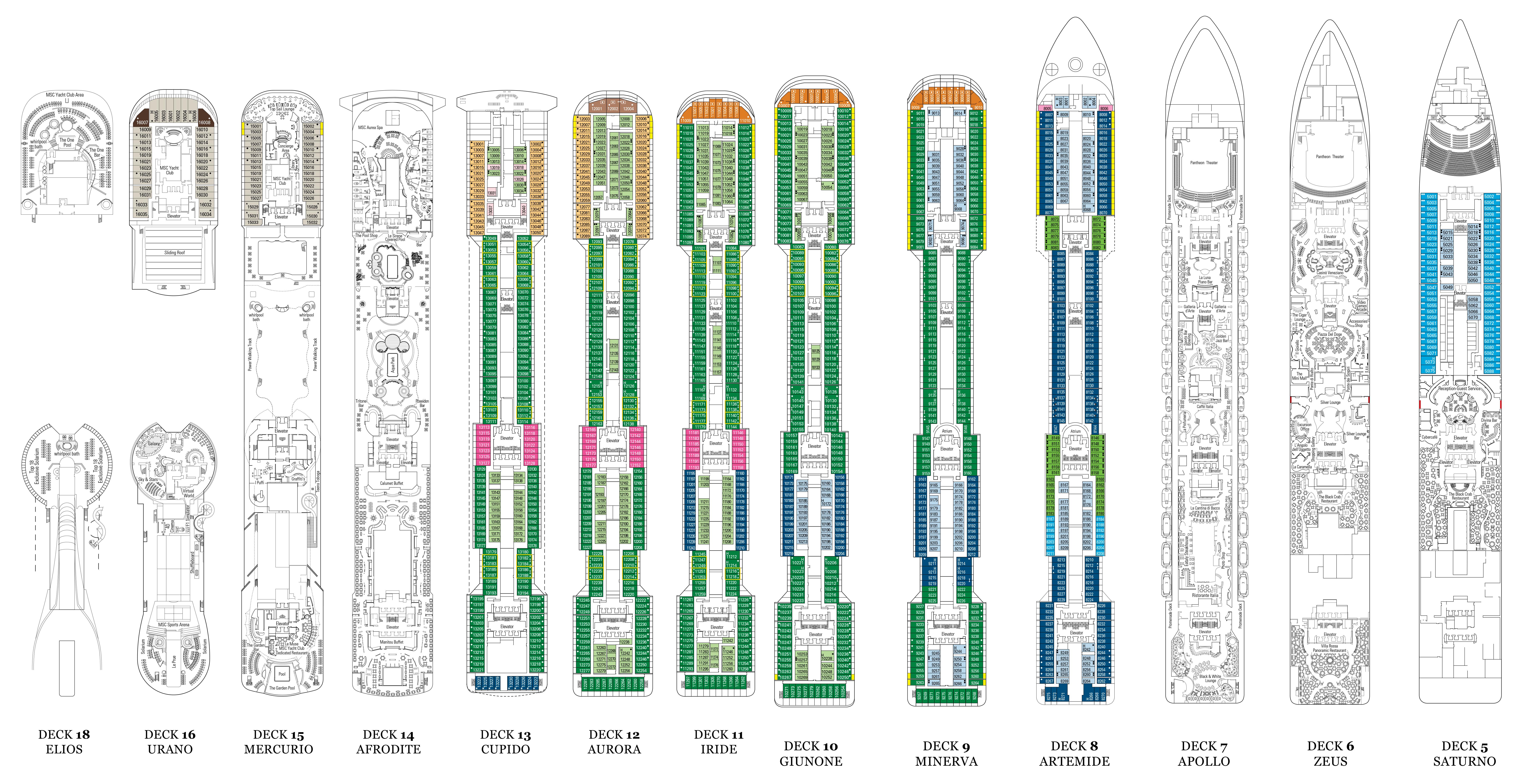 Msc Divina Deck Plans Cruiseind