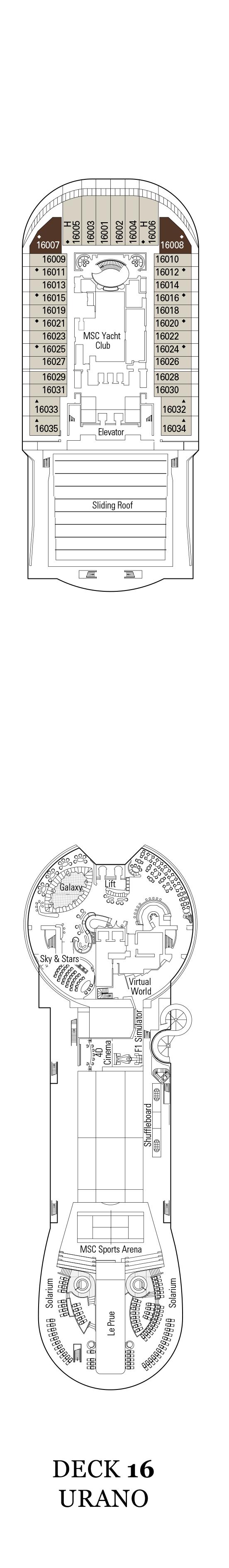 MSC Divina Deck Plans | CruiseInd