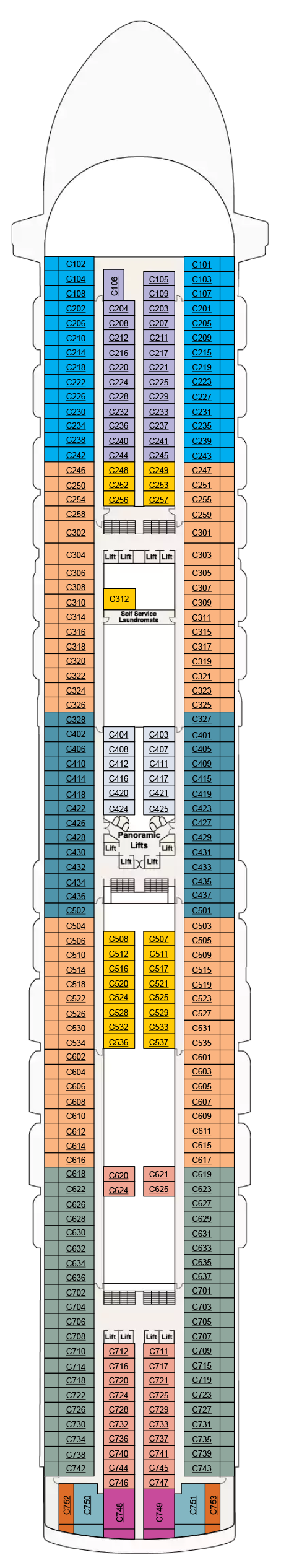 Crown Princess Deck Plans Cruiseind