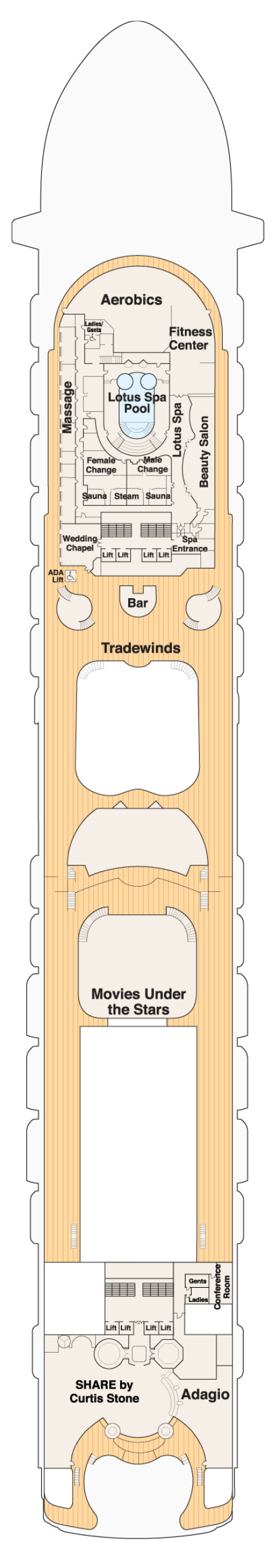 100 Breakaway Deck Plan 14 Norwegian Bliss