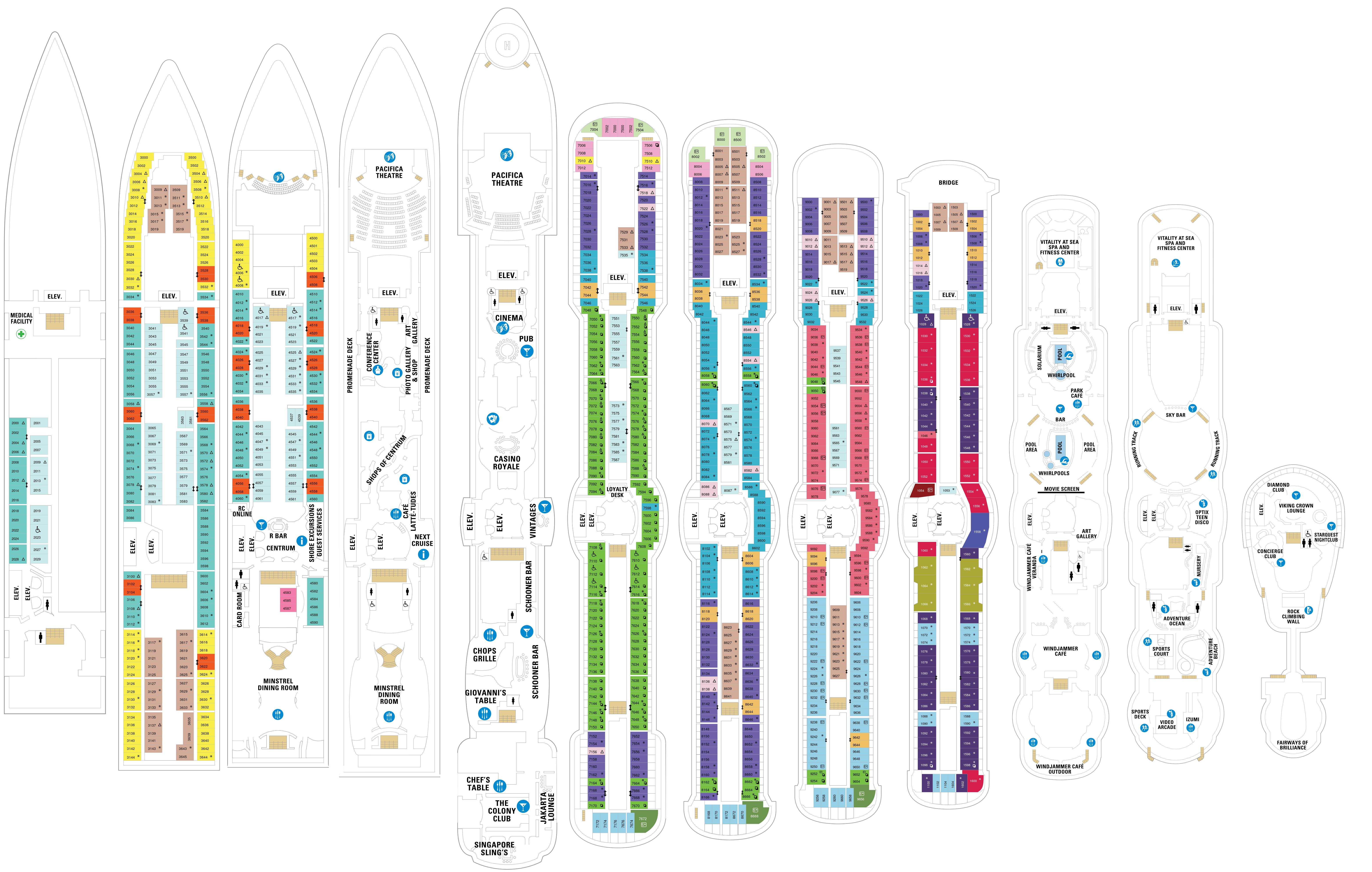 brilliance of the seas deck plan