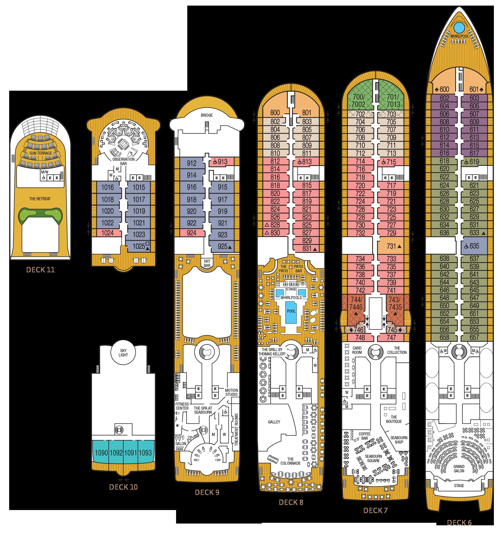 Seabourn Odyssey Deck Plans Cruiseind