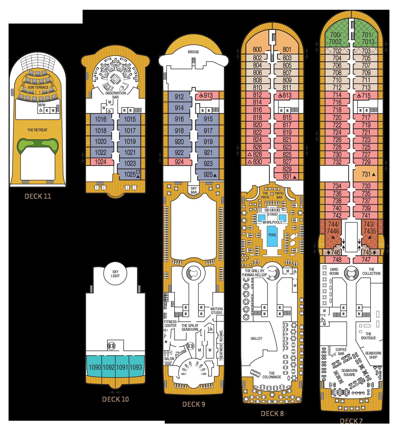 Seabourn Sojourn Deck Plans Cruiseind