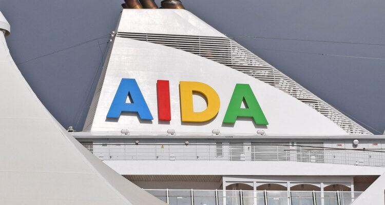 ©CruiseInd AIDA logo on AIDAvita taken in Miami.